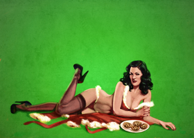 Miss Claus Pin-up by mollygrue