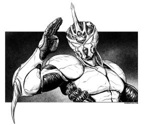 Guyver Inks by DaveRapoza