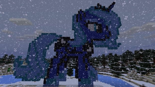 Princess Luna Pixel Art (Birthday/Christmas Gift) by GreatnPowerfulBNKing