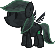 Paper Crystal Thorn (My Paper Pony) by Hornet-of-Hallownest