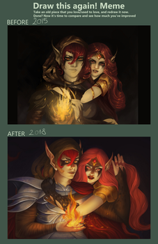 Draw this again meme - Elven Flame by Nidhogge