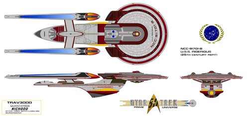 NCC91701B USS RIDERIOUS 25th Century Refit by trav3000