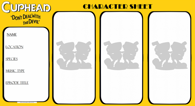 Cuphead Character Sheet (Please read desc.) by Spirit-Okami