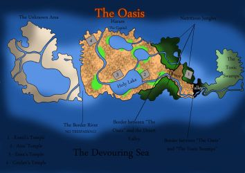 Map - The Oasis by TenshiNeera