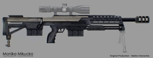 Weapon Concept art - rifle 02 by Monkanponk