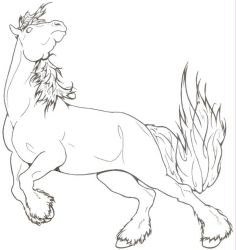 Spirited Draft Horse by ReQuay