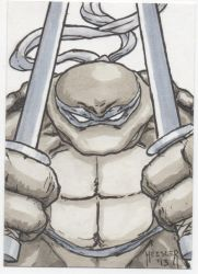 Leonardo Sketch Card by DieselNYC