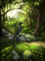 Deep in the forest by Raxrie