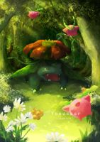 The forest of  Venusaur by LuluGraffitiBoard