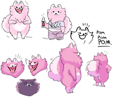 small pink pom by Spoonfayse