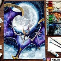 Lunala painting by Pang.Art