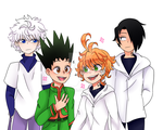 HxH and Promised Neverland by DoodleToo