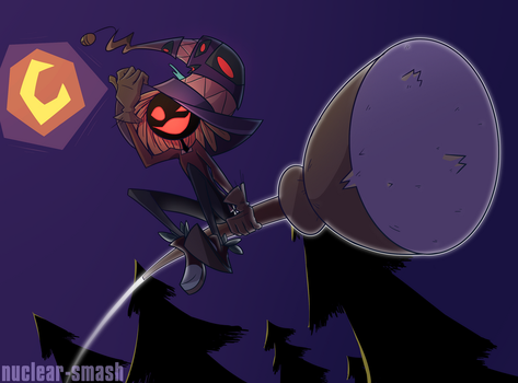 Witch-Sunflower-Scarecrow boyo by nuclear-smash
