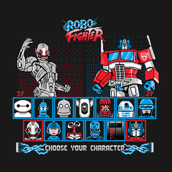 Robo Fighter shirt by LavaLampCreative
