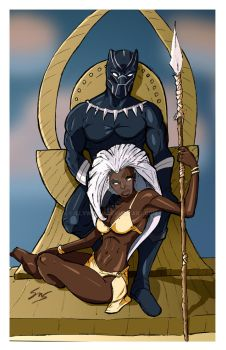 Black Panther and Savage Storm Fan art by IllyW0rld