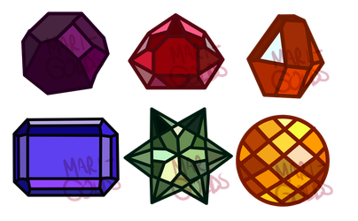 (CHARITY) Pride myst. gemstone adopts (CLOSED) by CrabStag