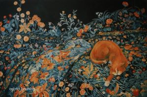 Garden Bed - Acrylic Painting by AstridBruning
