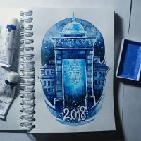 Instaart - New Year's Lantern by Candra