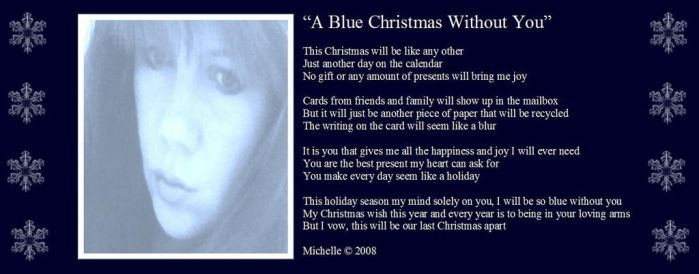 A Blue Christmas Without You by VisualPoetress