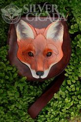 Leather fox bag by SilverCicada