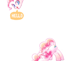 mobile wallpaper: HELLO Pinkie Pie by GashibokA