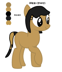 Cerri as an MLP pony by AccountName000