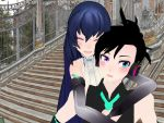 MMD Zoey and Cole by epicbubble7