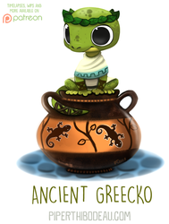 Daily Paint 1629. Ancient Greecko by Cryptid-Creations