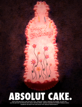 absolut cake by suppichan