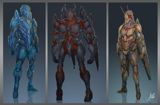 Commission: Armor Concepts by aiyeahhs