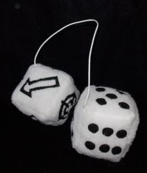 Fuzzy Scatter Dice by AbleSistersFanCrafts