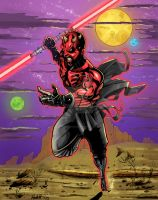 Darth Maul likes bacon. by VisibleFire