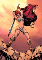 Red Sonja color by logicfun