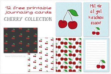 {Free printable journal cards} - Cherry Collection by byjanam