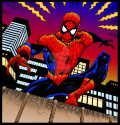 Spider-Man By Pat Olliffe | Colourised by Cotterill23