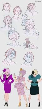 Hunger Games sketchdump the 2nd by Ninidu