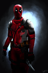 Deadpool DIgital Painting by ladysofhousen