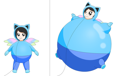 Galaxie Fairy wants to be inflated bigger part2 by Darlaltonthebearcat