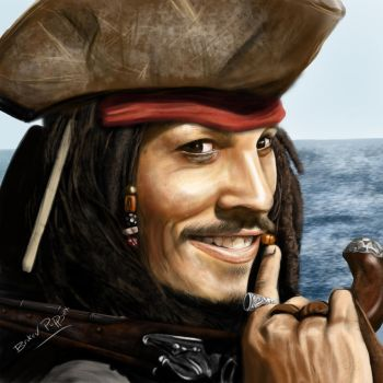 Jack Sparrow by brokenpuppet86