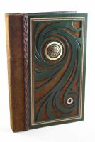 Green Swirl Leather Journal by McGovernArts