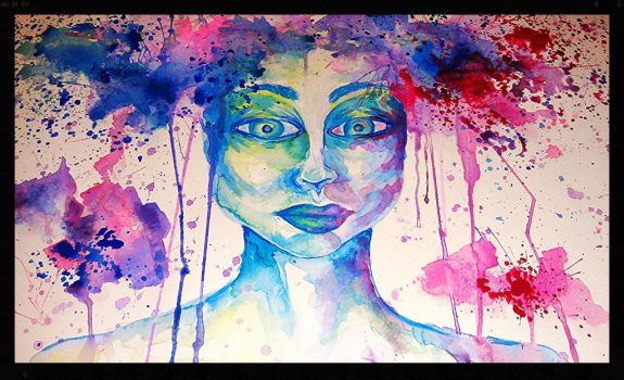 2013 Female Water Color Splat by AngiePip