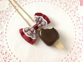 Bitten Ice Cream Necklace (MADE TO ORDER) by tiramisuxfluff