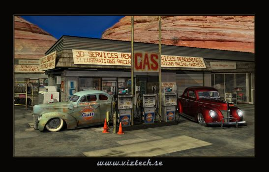 dessert gas station by hermanform