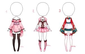 {Closed} Auction Outfit 126 - 127 - 128 by xMikuChuu