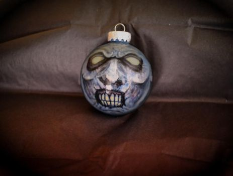 Hand Painted ZOMBIE Ornament! by asconch