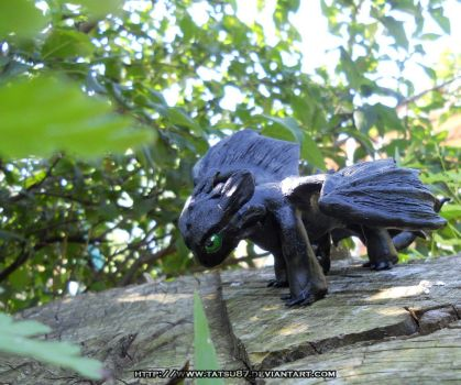 Toothless sculpture by Tatsu87