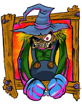 Scarecrow Angry by TCBaldwin