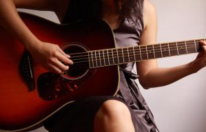 Girl and guitar by reve75
