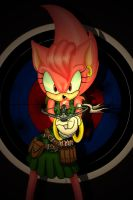 amy rose with crossbow by Pu3ppchen