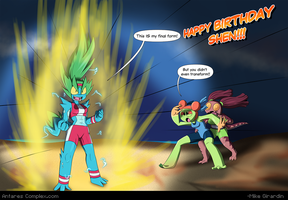 Power up!!! Happy Birthday Shen! by Gx3RComics